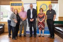 Main sponsor Ian Steadman of BSR Bespoke Accountancy of Tunbridge Wells with the ladies from Pickering Cancer Drop in Centre, Des Joyner, Chris Bennett & John Chapman